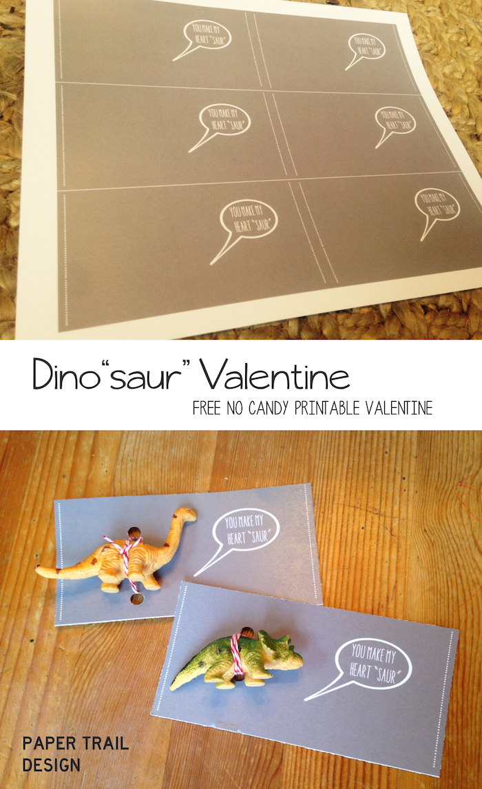 Free Printable Dinosaur Valentine Cards. These DIY dinosaur valentines cards are perfect no-candy option for a kids valentine exchange. Homemade dinosaur valentine cards.