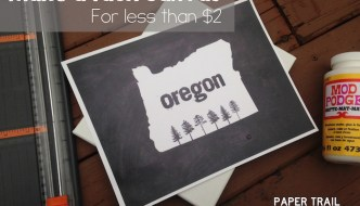 Make a Faux Canvas for Under $2 Plus Free Oregon State Printable