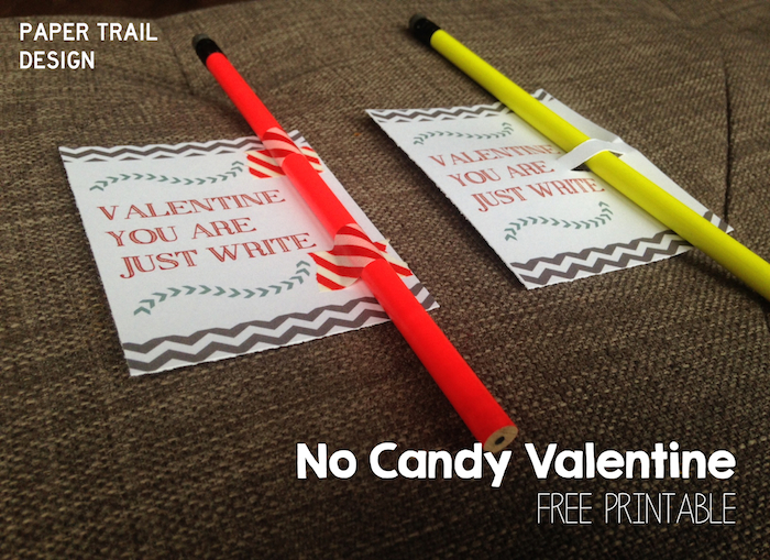 picture about Pencil Valentine Printable identified as Cost-free Printable Pencil Valentine - Paper Path Style and design