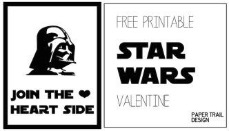 Star Wars Darth Vader Valentine Printable. This free Star Ward Printable Valentine is the perfect DIY Star wars Valentine. Just print and cut.