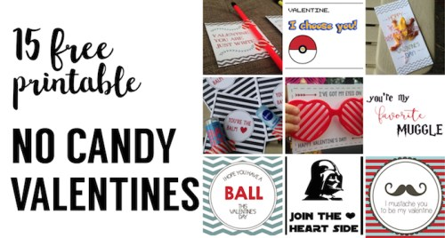 15 diy free printable no candy valentines print these valentines day cards for a school - Free Print Pictures