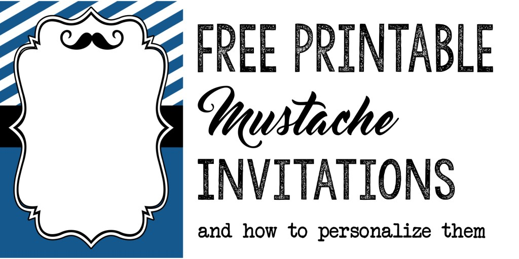 Mustache Party: Baby Shower or Birthday Invite - Paper Trail Design