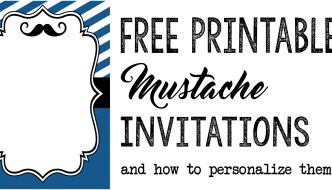 Mustache Party: Baby Shower or Birthday Invite