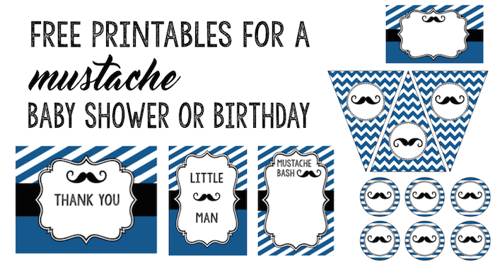 graphic relating to Mustache Pattern Printable titled Mustache Social gathering: 10 Absolutely free Printables - Paper Path Style and design