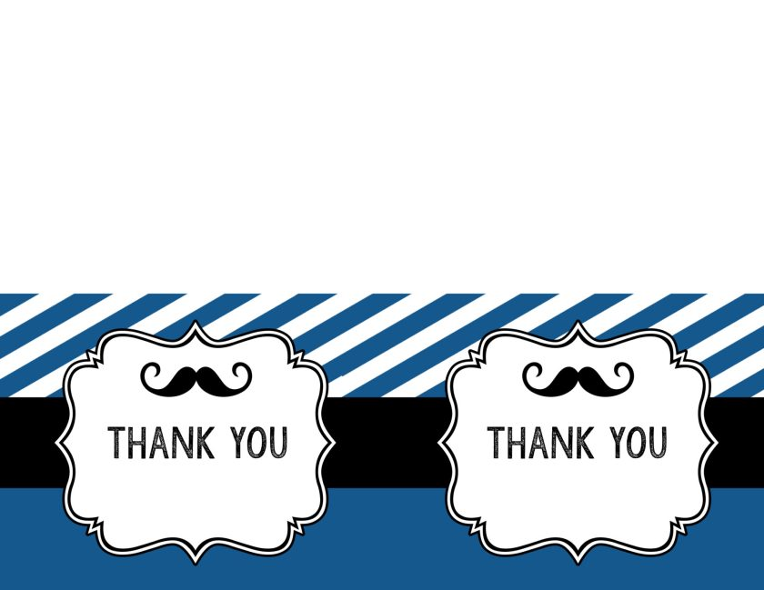 Print The Mustache Thank You Cards Here Printables