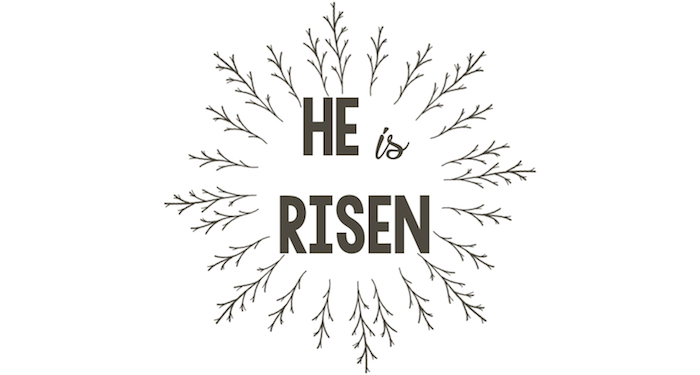 image relating to He is Risen Printable called He is Risen Free of charge Printable Easter Indication - Paper Path Design and style