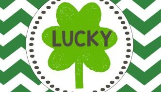 Lucky Free Printable St. Patrick's Day Lucky Art Shamrock Print.
