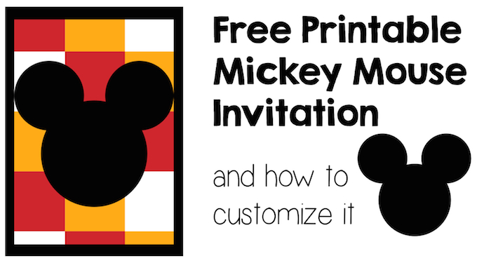 graphic relating to Mickey Printable referred to as Mickey Mouse Invitation and How in direction of Personalize it - Paper