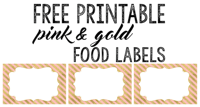 Pink and Gold Food Labels Free Printable  Paper Trail Design