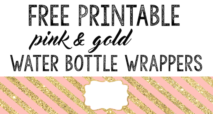 Pink And Gold Water Bottle Wrappers Free Printable Paper