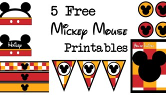 Five Mickey Mouse Free Printables