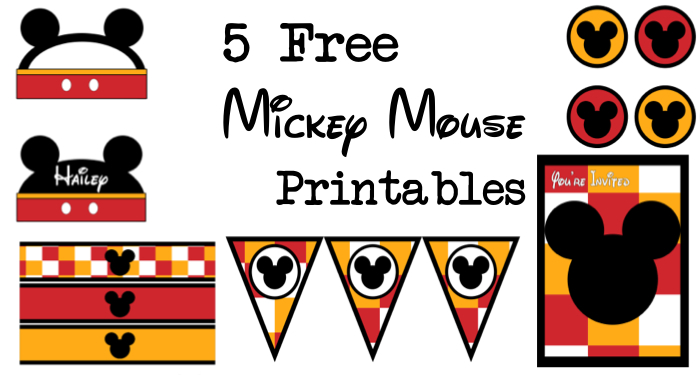 Five Mickey Mouse Free Printables Paper Trail Design - Cupcake name tag template