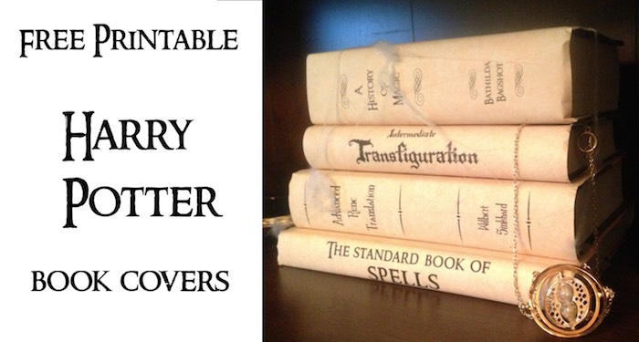 Printable Book Cover Labels : Harry potter book covers free printables paper trail design