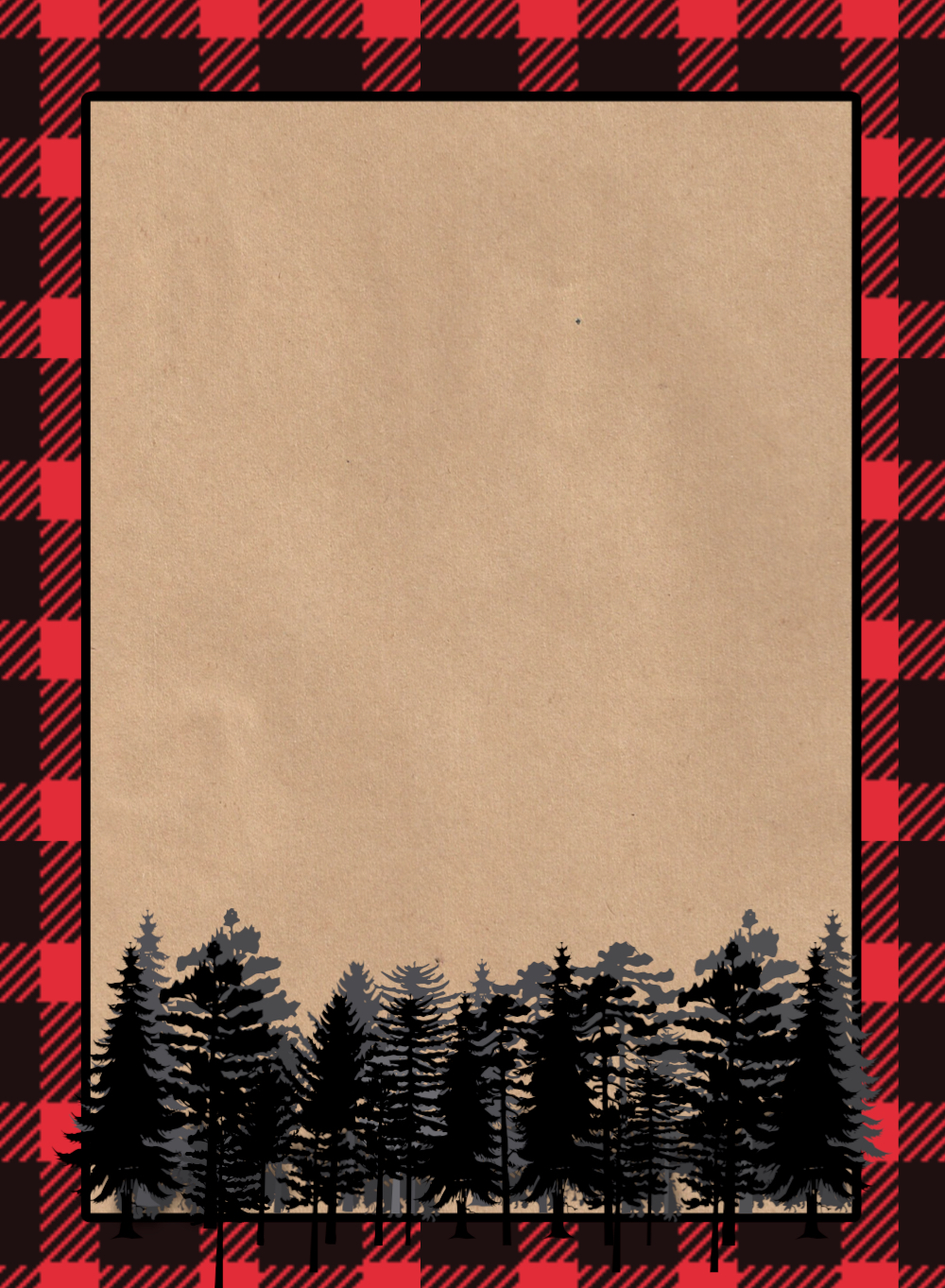Lumberjack Invitation Free Printable Paper Trail Design