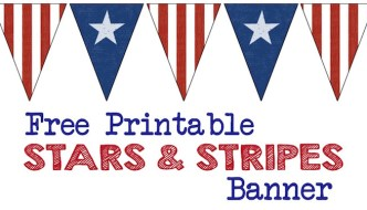 Stars and Stripes Banner Free Printable