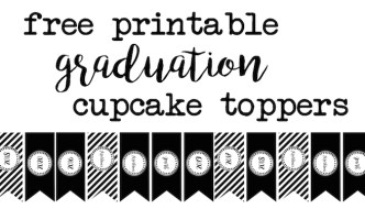 Graduation Cupcake Toppers Free Printable