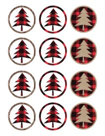 Lumberjack cupcake toppers free printable for your lumberjack themed birthday party or baby shower. Print these and our other free printables to add easy decor to your party.