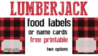 Lumberjack Food Labels Free Printable
