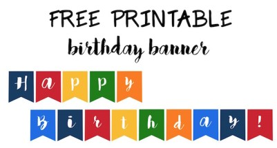 Free printable birthday banner ideas paper trail design happy birthday banner free printable easy decor for a birthday party just print and hang maxwellsz