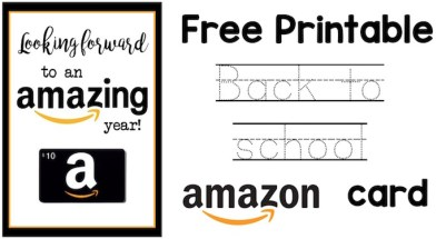 Back to School Teacher Amazon Card free printable. Easy and cute teacher gift for the beginning of the school year. Give your child's teacher this amazon card on the first day of school.