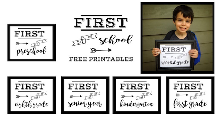 First Day of School Sign Free Printable - Paper Trail Design