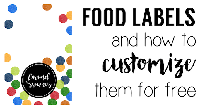 graphic relating to Free Printable Food Labels called Vibrant Foodstuff Labels Absolutely free Printable - Paper Path Style