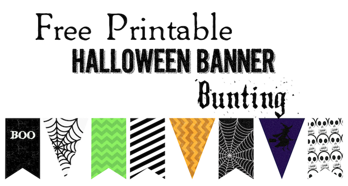 Sweet image intended for halloween banner printable