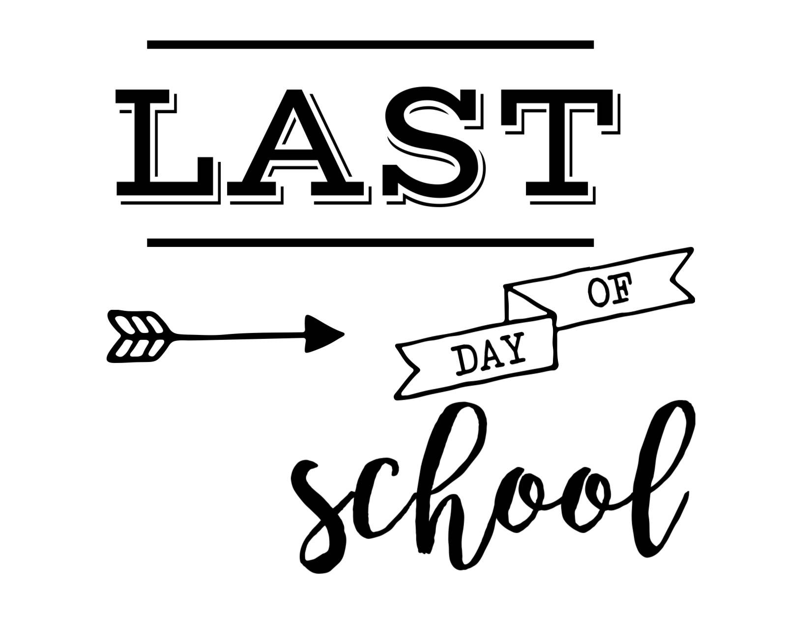 The Cutest List Of Printable Last Day Of School Signs