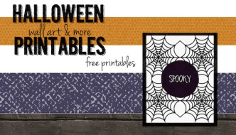 Spooky Halloween Spider Web Free Printable