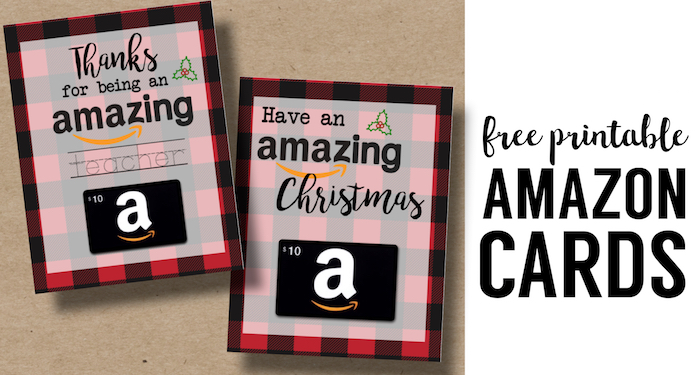 printable christmas gift card holders for amazon - Amazon Christmas Gift