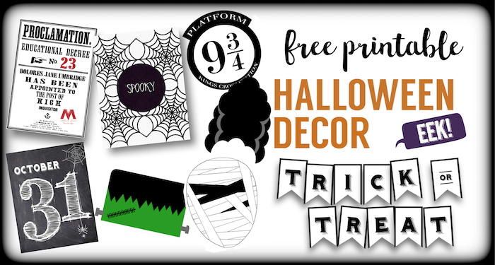 photo about Halloween Decorations Printable titled 12 Halloween No cost Printables - Paper Path Layout