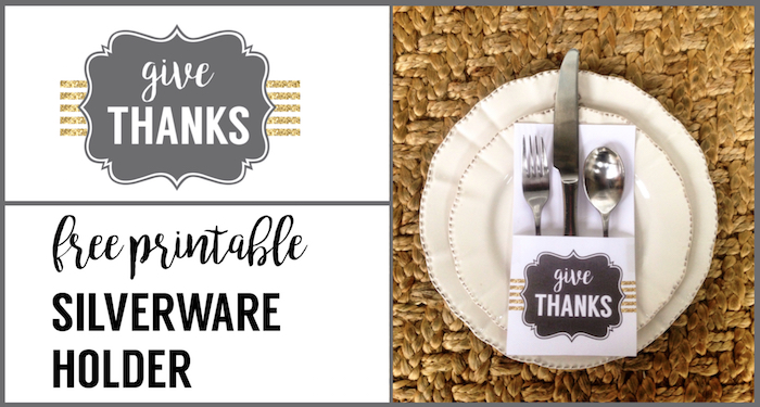 Thanksgiving Silverware Holder Free Printable Paper