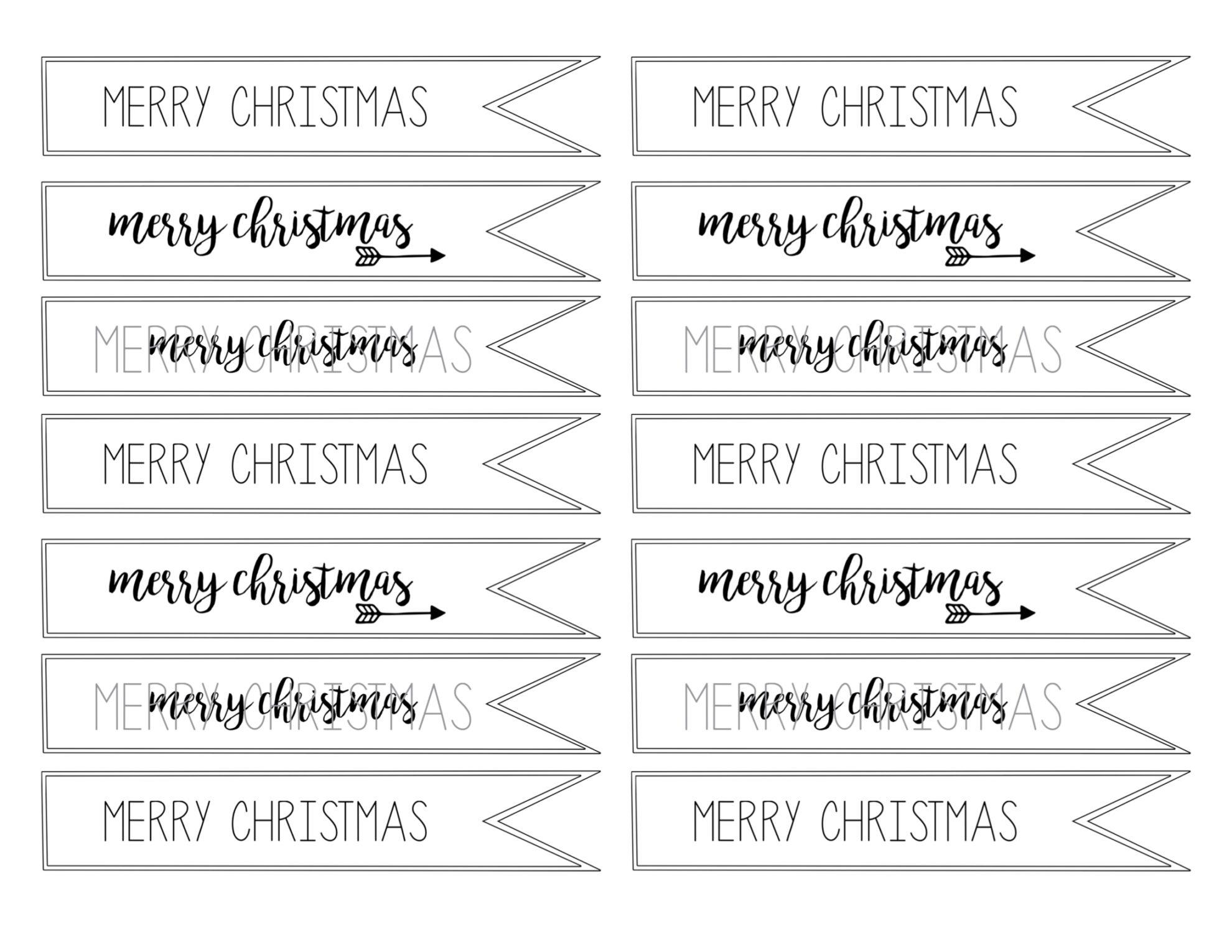 Free Christmas Gift Tags Print