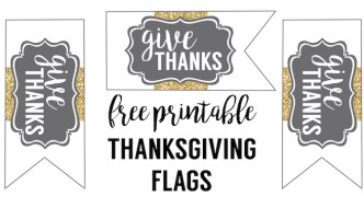 Free Printable Thanksgiving Flags. Print these cupcake topper-like flags to decorate your Thanksgiving desserts or your Thanksgiving dinner.