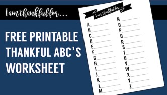 I Am Thankful Worksheet Free Printable