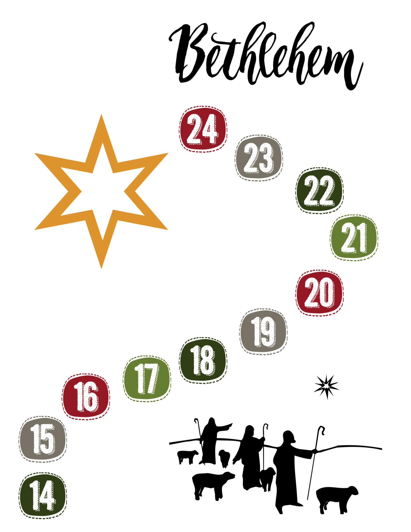 Free Advent Calendar Printable