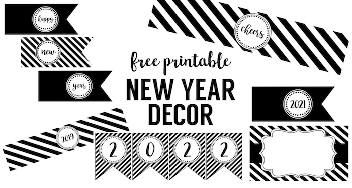 Happy New Year Party Printables Paper Trail Design