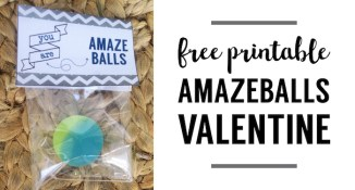 Amazeballs bouncy ball valentine printable. This DIY free printable bouncy ball valentine is an easy valentine for kids to give out this Valentine's Day.