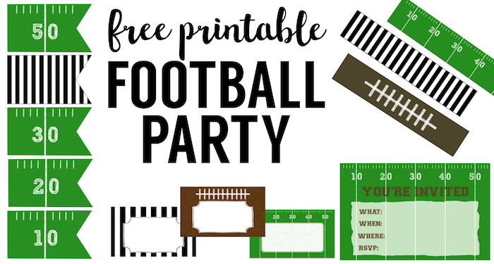 graphic regarding Super Bowl Party Invitations Free Printable referred to as Cost-free Printable Soccer Decorations Soccer Social gathering - Paper