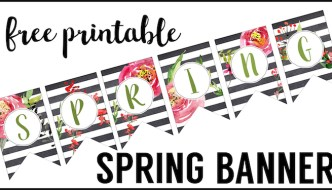 Spring Banner Printable {Spring Decorations}