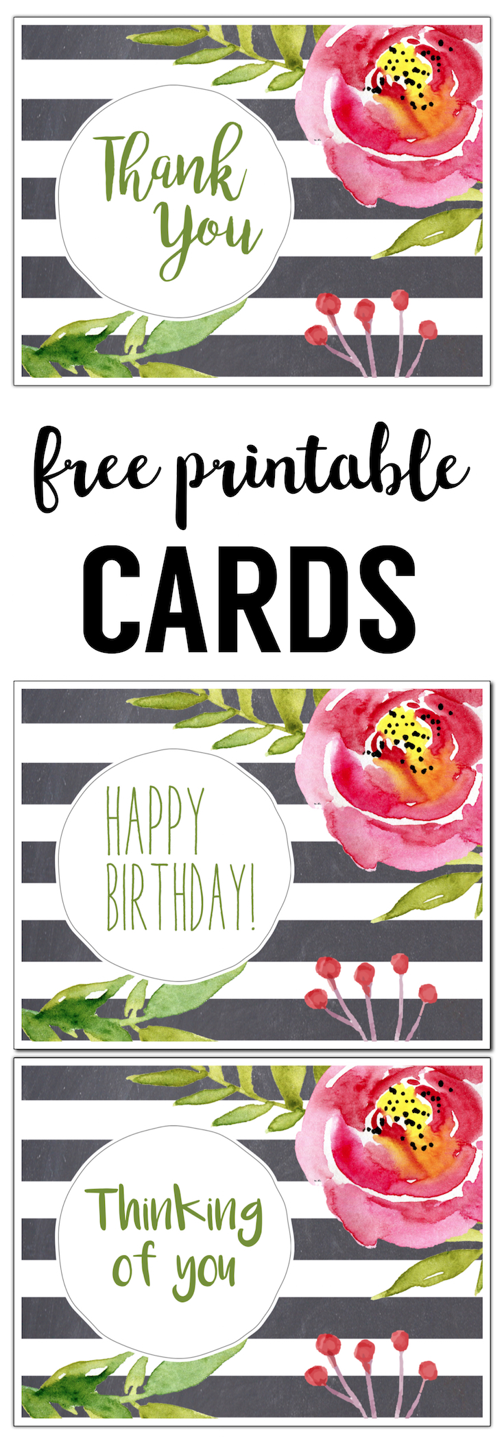 Free printable greeting cards thank you thinking of you free printable greeting cards thank you thinking of you happy birthday kristyandbryce Choice Image