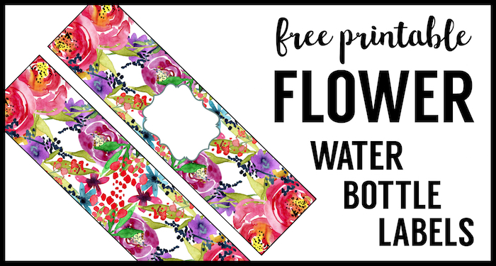 Spring Water Bottle Labels Free Printable Paper Trail Design