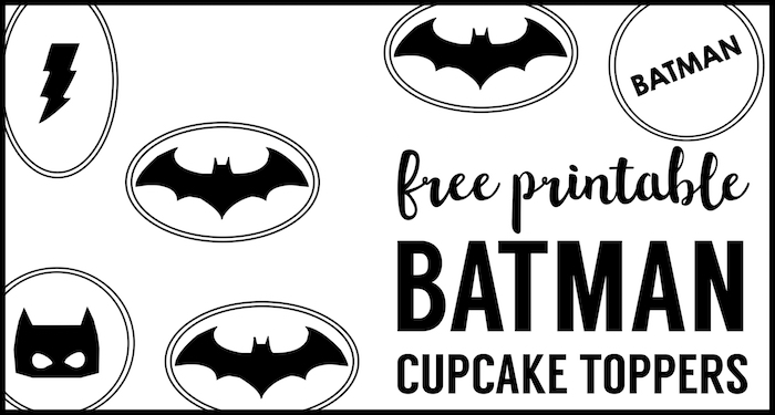 image relating to Batman Cupcake Toppers Printable titled Batman Cupcake Topper Printables - Paper Path Style