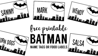 Batman Name Tags Free Printable