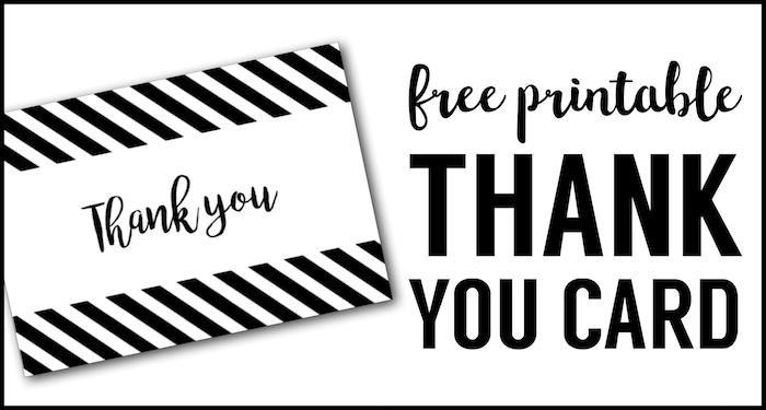 image regarding Printable Thank You Cards Black and White identified as Absolutely free Thank Yourself Playing cards Print No cost Printable Black and White
