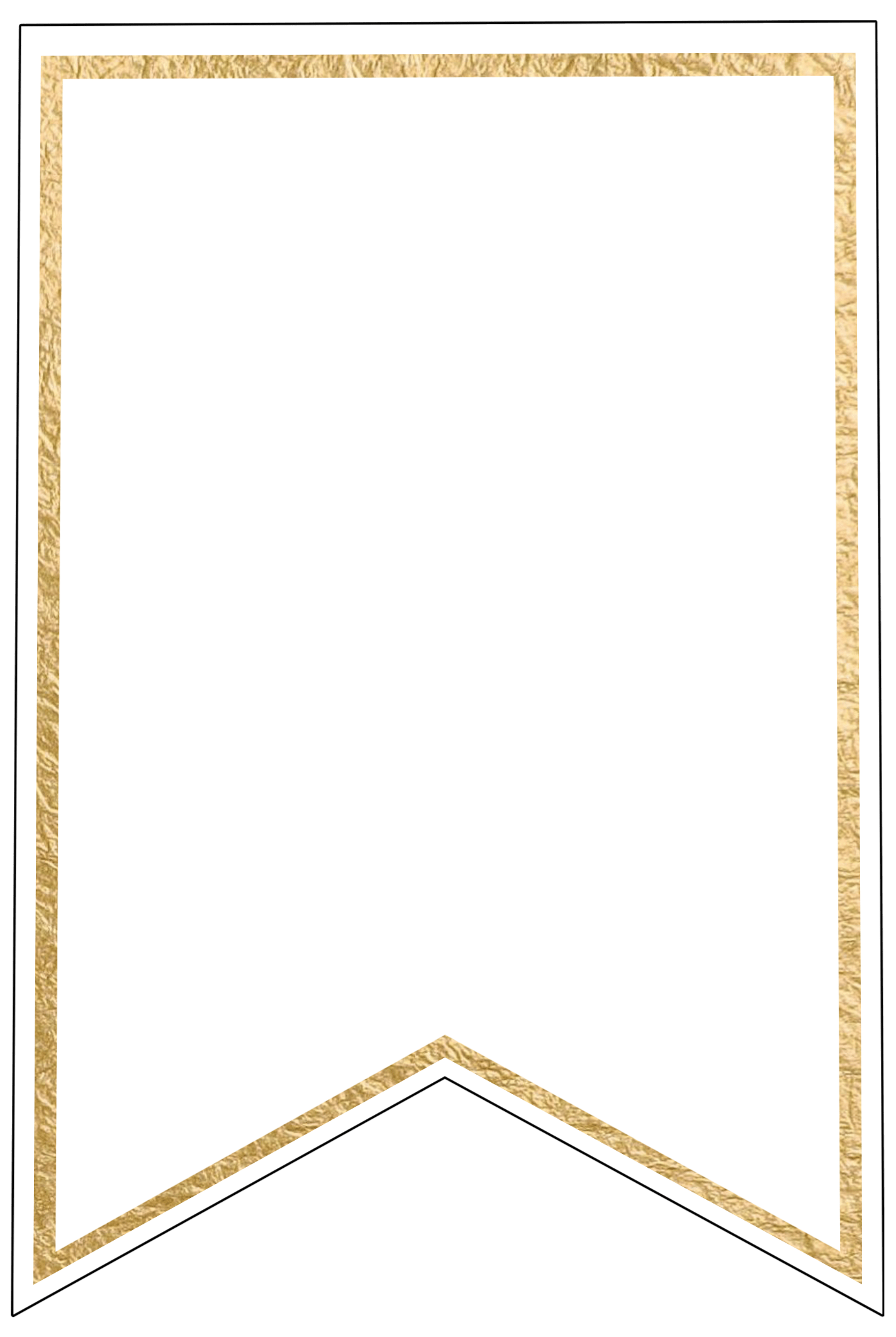 Lucrative image with printable pennant banner template