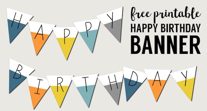 Free Printable Happy Birthday Banner Paper Trail Design