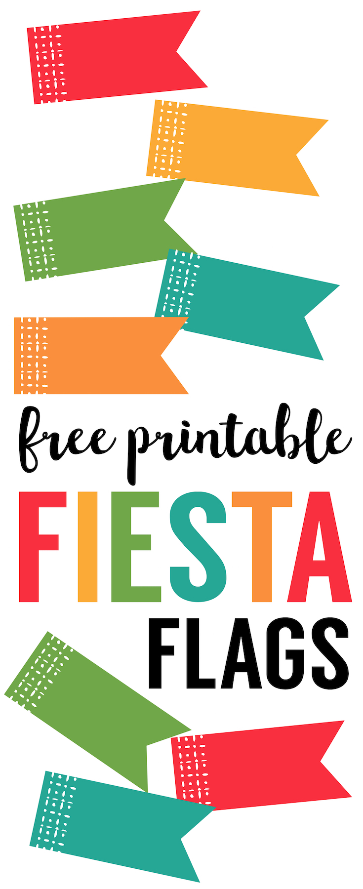 Fiesta Cupcake Toppers Free Printable Flags  Paper Trail Design