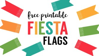 Fiesta Cupcake Toppers {Free Printable Flags}