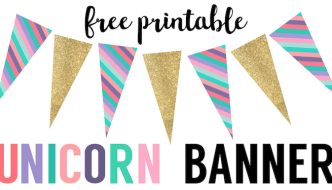 Unicorn Birthday Banner Free Printable
